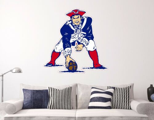 Old England Patriots School Wall Decal Decor Sticker Sports Multi-color Vinyl
