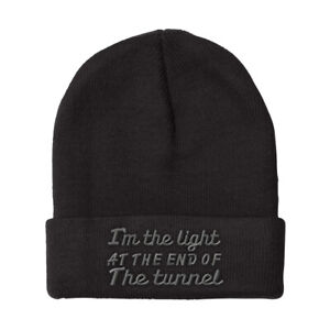 Beanies for Men I'M The Light End of Tunnel Embroidery Funny Acrylic Skull Cap