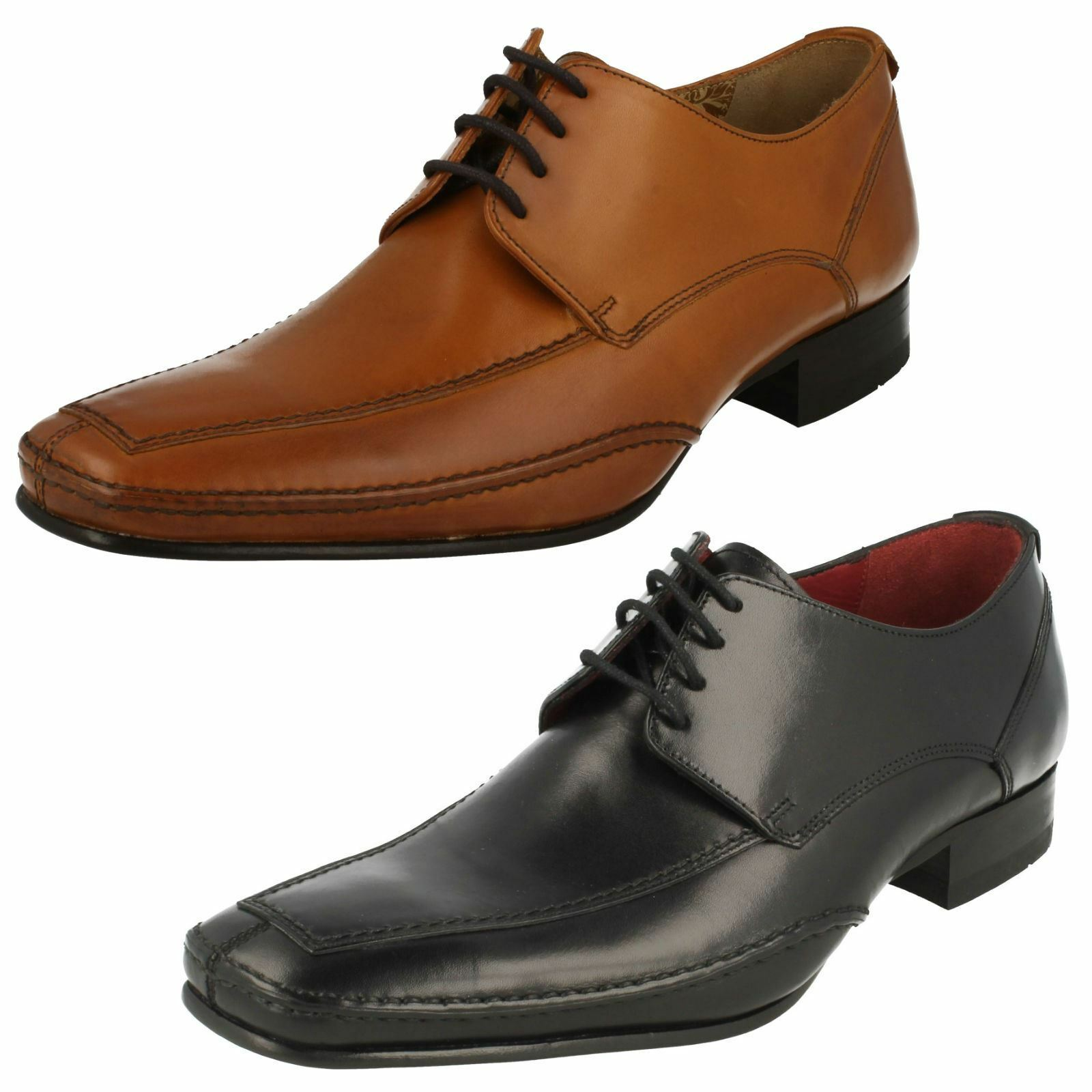 Mens Loake Leather Lace Up schuhe Hurst