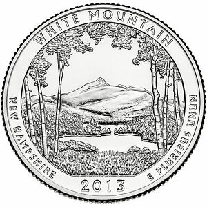 2013 White Mountain 12x State Park Quarter Gift Bag BU 2nds New Hampshire SAVE