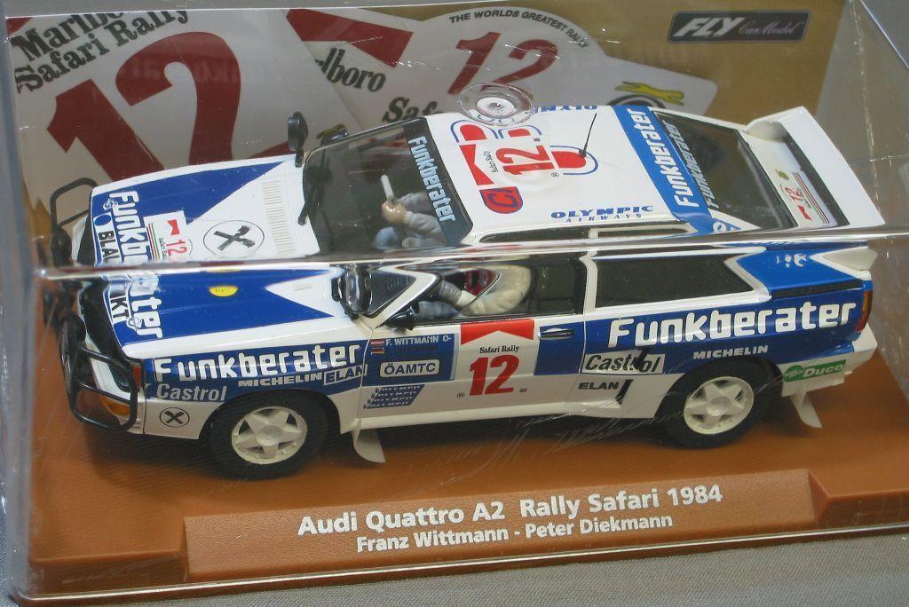Fly - 1   32 slotcar safari - rallye 1984 audi quattro rallye a2 96097 e 1901