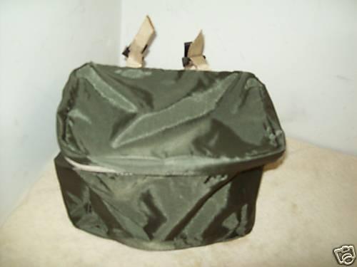 Nylon Vert Olive Avant Guidon Sac New Old Stock