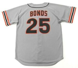 info for fff2d 743f3 Details about BARRY BONDS San Francisco Giants 1993 Majestic Cooperstown  Away Baseball Jersey