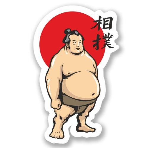 2 x Sumo Wrestler Vinyl Sticker Laptop Travel Luggage #4452