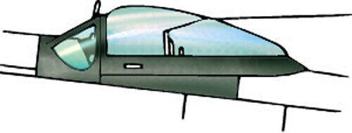 1//48 Squadron 9501 P-51 D Dallas Type Vacuform Canopy x2 for Monogram