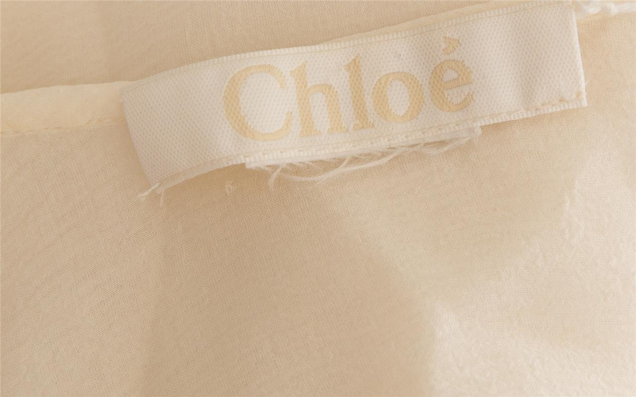 CHLOE Womens Ivory Pleated Floral Lace Sleeveless… - image 5