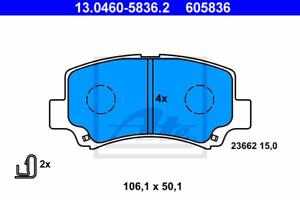 Bremsbelagsatz Frein À Disque-UAT 13.0460-5836.2