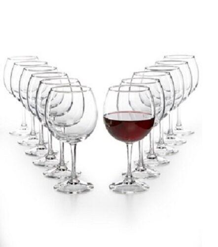 Martha Stewart Essentials Glassware  12 Piece Red Wine Glasses Set NEW