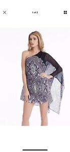 ea0e3ff24362b GUESS by MARCIANO! NWT AMINA ONE SHOULDER NAVY PURPLE COCKTAIL DRESS ...