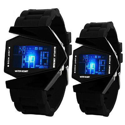 W US Mens Womens LED Light Digita lWrist Watches  Sports Quartz Silicone Watches