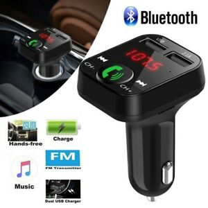 Bluetooth-Wireless-In-Car-MP3-FM-Transmitter-Car-Radio-Adapter-Kit-2-USB-Charger