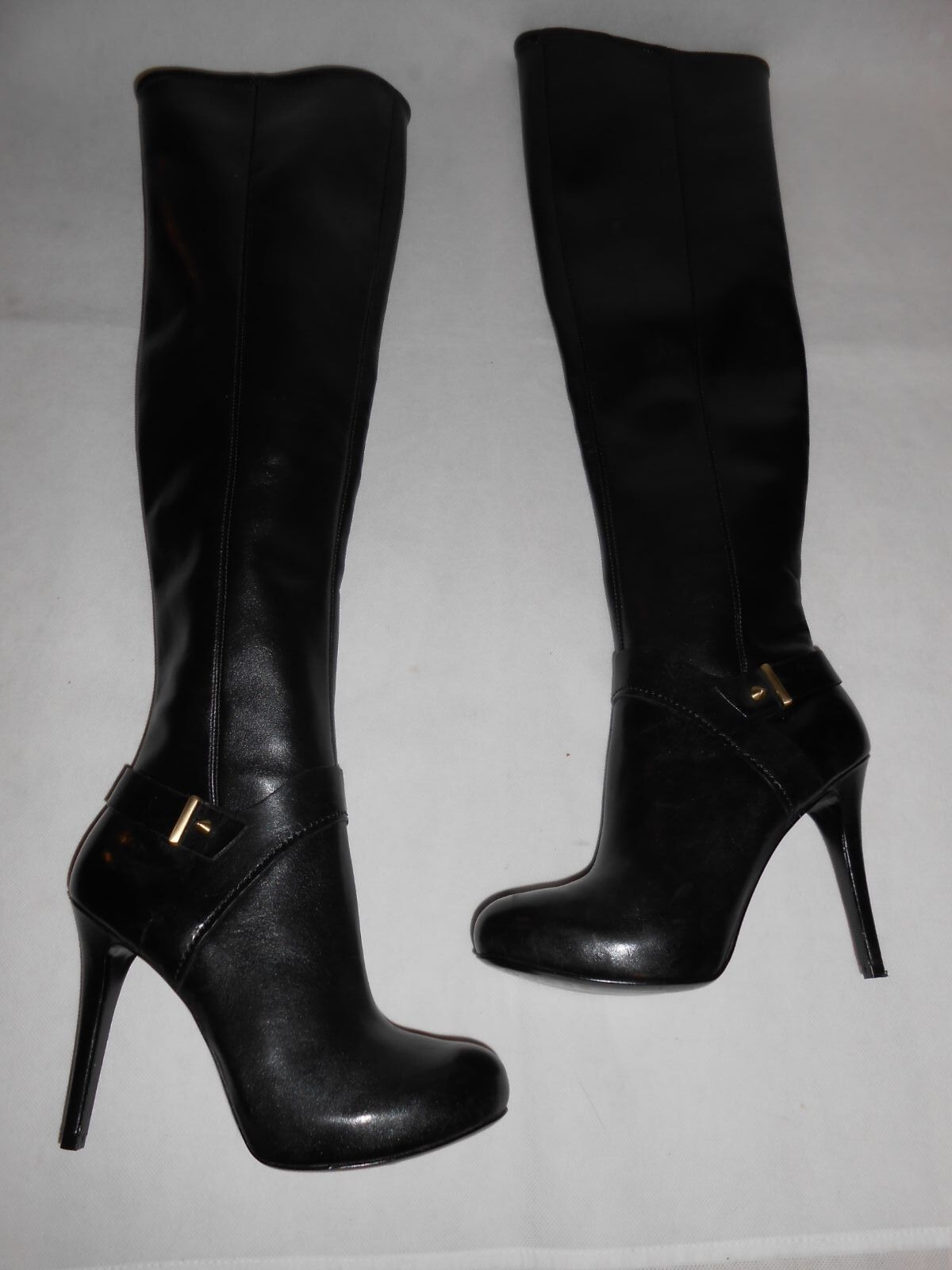 New GUESS GUESS GUESS black over knee PU boots US6,5, UK4 9451e1