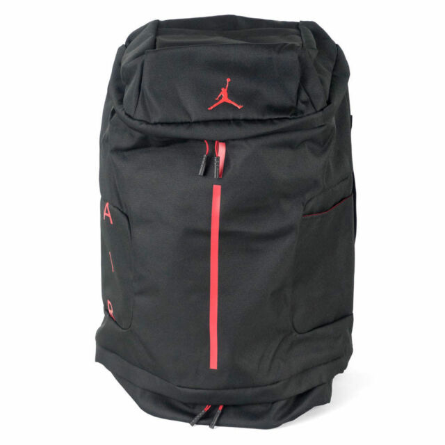 a564728fac5738 Nike Air Jordan Velocity Backpack Black Red Basketball 13 11 12 Bred  9A0012-KR5