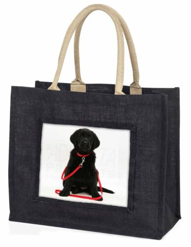 Black Goldador Dog Large Black Shopping Bag Christmas Present Idea , ADL87BLB