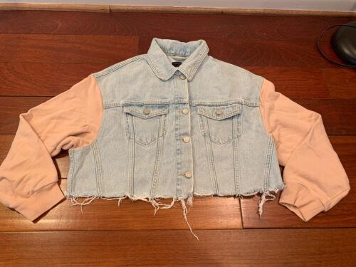 Allsaints Blue And Pink Denim Jacket M