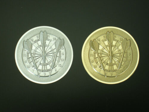 DART ALU Embleme im 3er Pack und Silberfarben 50 mm in Gold. Selbstklebend