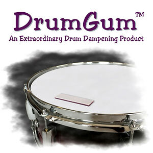 DRUMGUM-DRUM-DAMPER-MUFFLER-DAMPENER-CONTROLS-OVER-RING-amp-OVER-TONES