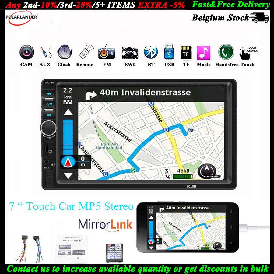 "autoradio: 7"" 2 DIN Touch Screen Autoradio TF/FM/Remoto MP5 Link Specchio Bluetooth Stereo"