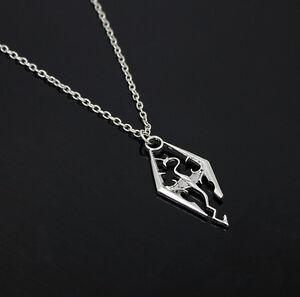 fashion cool the elder scrolls logo skyrim pendant
