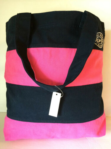 Gilly Hicks Tote Navy pink Bag Nuevo Book qBTwq8z1