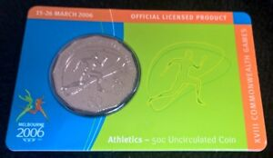 2006-FIFTY-CENT-COMMONWEALTH-GAMES-ATHLETICS-CARDED-UNCIRCULATED