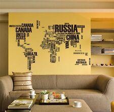 World Map Removable PVC Vinyl Wall Sticker Art Decal Mural Home Room Decor DIY