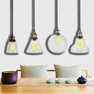 Details About Metal Gl Cage Hanging Lamp Shade Plug In Ceiling Chandeliers Pendant Lights