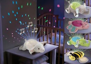 Baby Sleep Soother Musical Night Light Projector Infant