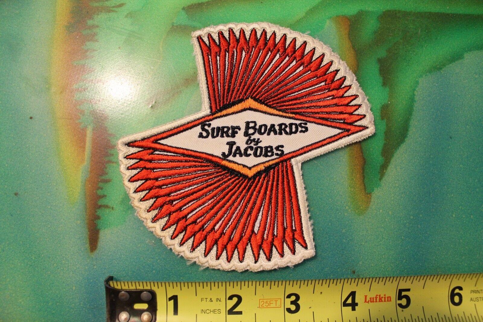 JACOBS Surfboards Hap Jacobs Velzy Rare Vintage Original 1960's Surfing PATCH
