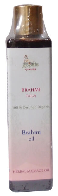 Organic BRAHMI Oil (200ml) - USDA Certified Organic - Gopala Ayurveda