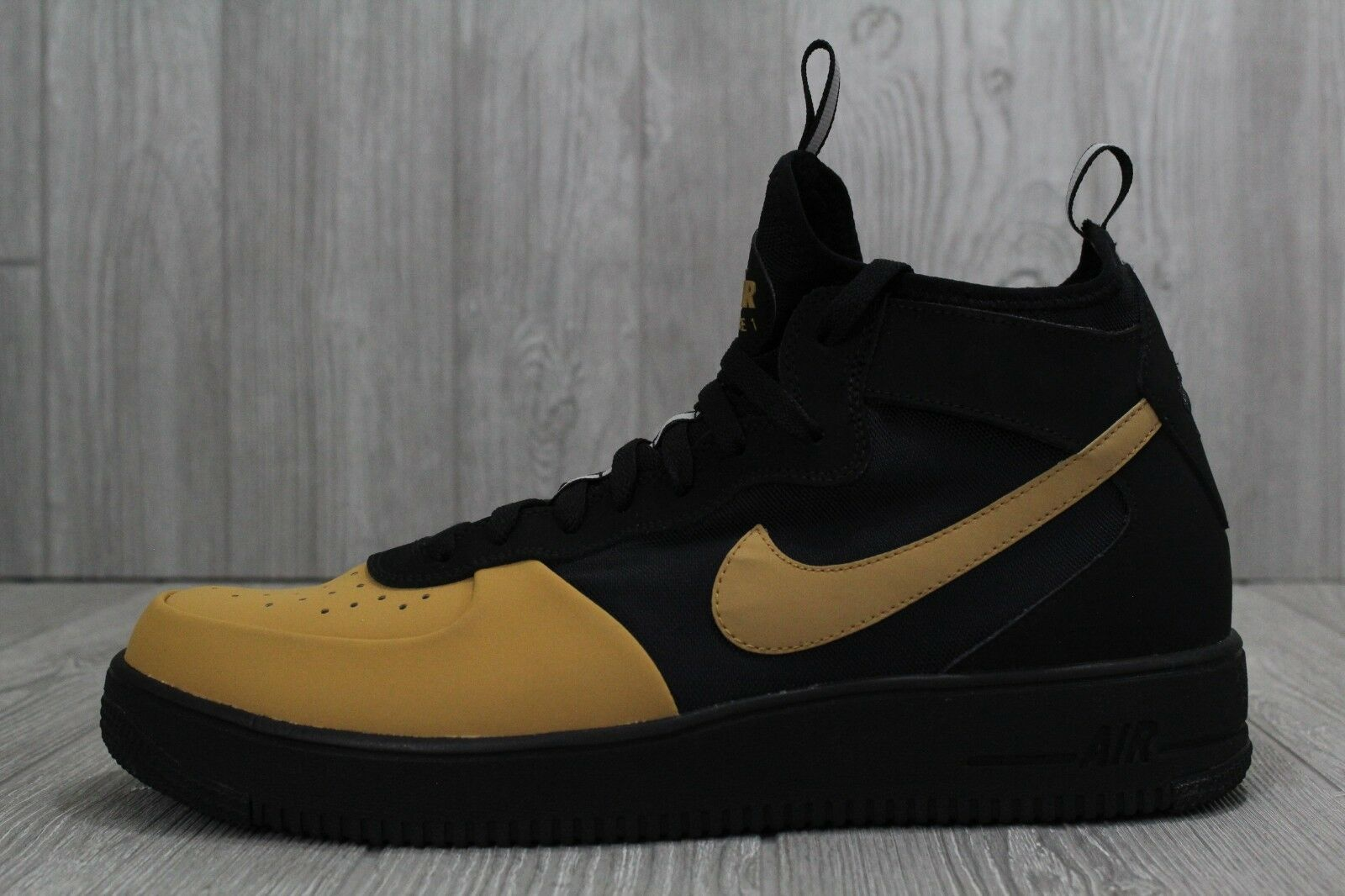30 New Nike MEN'S AF1 Ultraforce Mid Tech Black/Gold AH6746 002 Shoes 12 13 14 The latest discount shoes for men and women