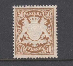 Bavaria-Sc-69-MNH-1888-50pf-deep-brown-Coat-of-Arms-F-VF