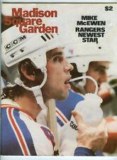 1978-79 MONTREAL CANADIENS 2 vs NY RANGERS 6 PROGRAM 1/3/79 KEN DRYDEN LAST YEAR