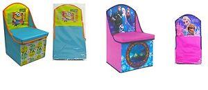 Disney-Frozen-Anna-Elsa-amp-Despicable-Me-Minions-Storage-Chair-Brand-New-Gift