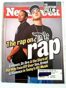 Details about Newsweek Magazine October 9 2000 Eminem Dr  Dre Rap Hip Hop  Slim Shady Aftermath