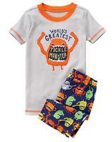 Gymboree Boys Gymmies Pajamas Set Tickle Monster Shortie