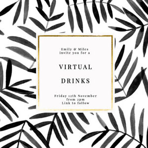 DIGITAL VIRTUAL FILE INVITE FOR ZOOM PARTY,DRINKS,BIRTHDAY,PALM LEAVES