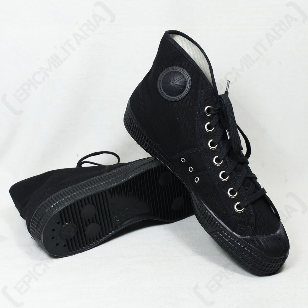 Bottes de baseball toile toutes tailles vintage noir militaire style hi hi style top chaussures de cheville dfdb81