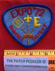 Vintage 1972 Boy Scout Patch Shawnee District Expo '72 #3Q