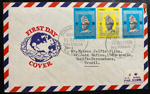 1970 Kedah Malaya First Day Airmail Cover FDC To Pernambuco Brazil