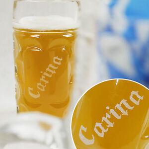 Bierglas Wunschgravur Name 1 Liter Bierkrug Bierseidel Geschenk