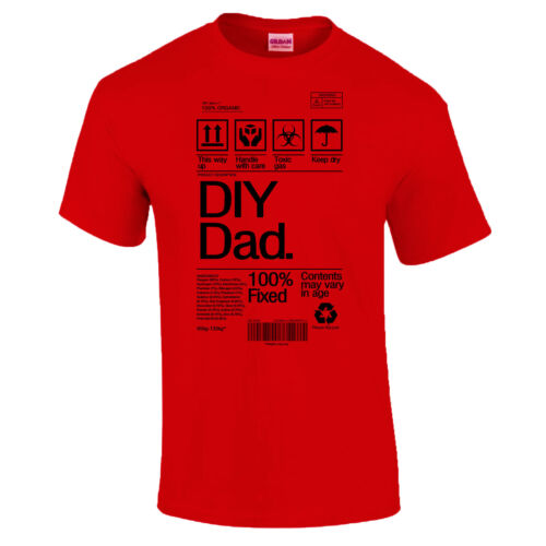 DIY Dad Product Label Father/'s Day Dad Grandad Funny Gift T-Shirt