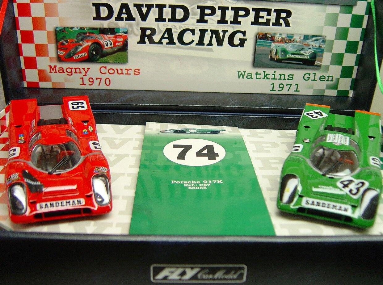 flyga TEAM 04 PORSCHE 917K TEAM DAVID PIPER ny 1 32 SLOT bilS I DISspela låda