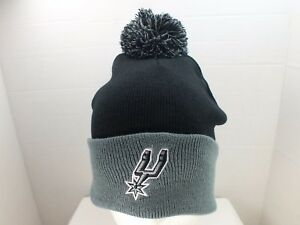 8d94dd30bcb080 reduced san antonio spurs nba bobble hat add61 aa31f  promo code for image  is loading san antonio spurs nba cuffed knit pom top 60f16 0b6bd