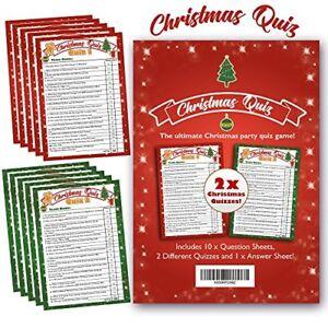 À grande bouche Noël Quiz Game-Ultimate Xmas Party Trivia Quiz Set - 2 x Quizzes-afficher le titre d`origine MvIdE4nw-08133844-243195195