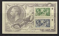 2010 GB QEII DX50 Rey George V sello conmemorativo de adhesión folleto panel 3070A