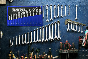 12-Tlg Gelenk Ringmaul Ratschenschlüssel Satz Set 8-19 mm Gabelschlüssel Ratsche