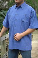 Trophywear Men's Blue Tournament Angler Fishing Cotton Casual Shirt S Small