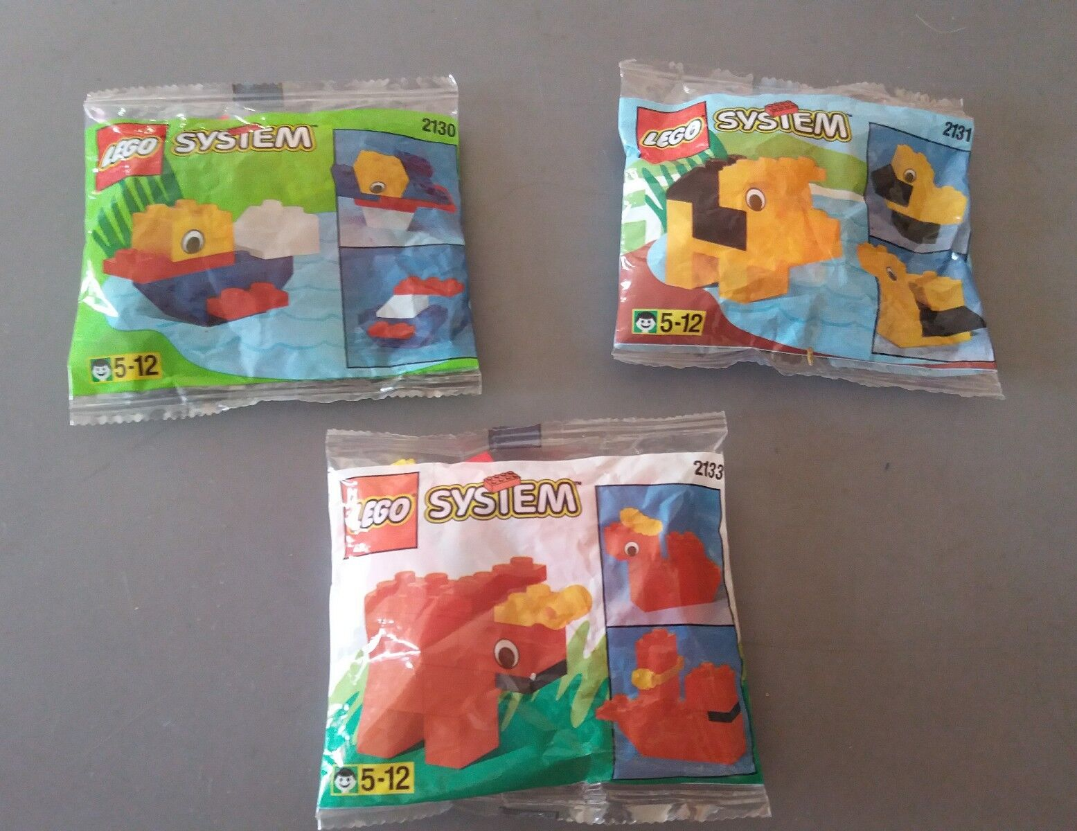 LEGO SYSTEM 2130 + 2131 + 2133 PROMO LEGO GROUP VINTAGE SEALED NEW NUOVO