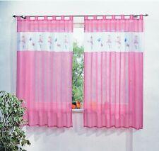 Kinderzimmer Gardine Schlaufenschal Prinzessin Motiv in weiß rosa für Mädchen